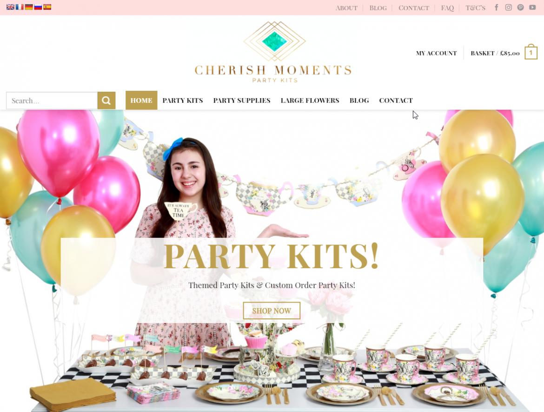 Milton-Keynes-Based-Cherish-Moments-Website-Screenshot